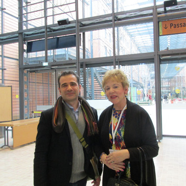 Dr. Gonzalez -Bermejo &  Cazzolli at JIVD conference in Lyon France