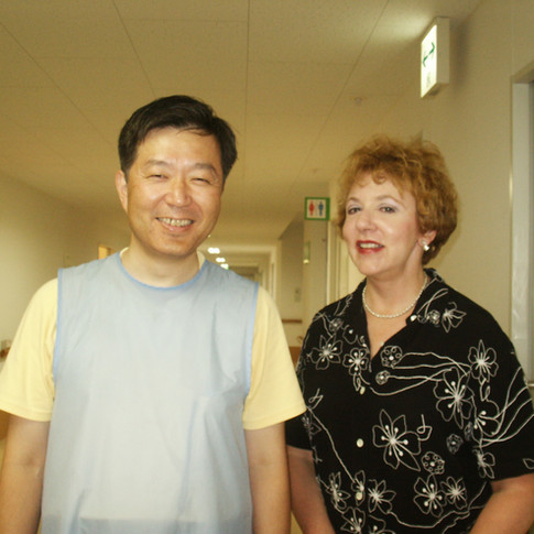 Dr. Yoshino, pioneer of drug, Radacava (edaravone). Cazzolli visited him at Tokushukai Hospital  in 2005