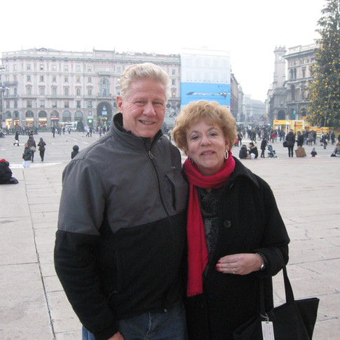 Cazzolli with husband - Milan Italy