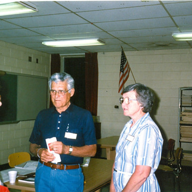 June 1988 -Sally Nousek (in dress) helped Cazzolli organize ALSA Chapter - Judy Post on far right
