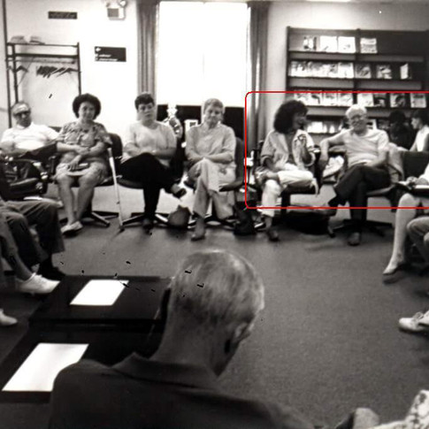 March 1988- Cazzolli facilitates support meeting & recruits people to serve on first ALSA Chapter board
