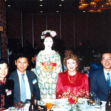 Cazzolli attends ALS symposium in Kyoto in 1987