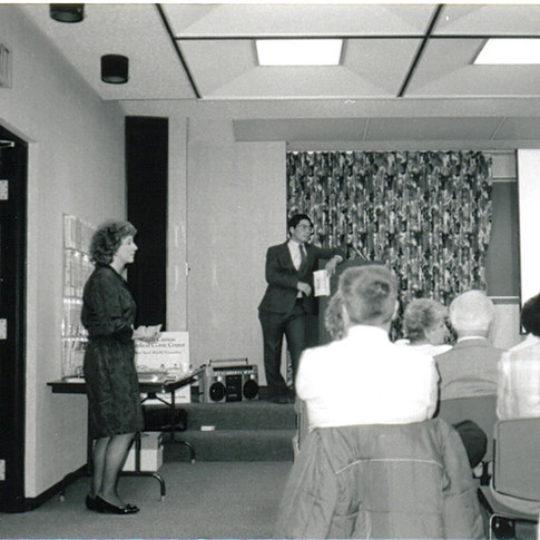 1 - Dr Mitsumoto speaks at Canton ALS Support Group 1989.jpg