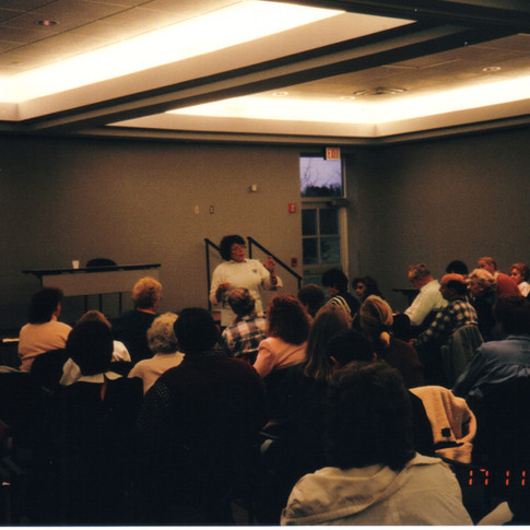 13. Dee Norris RN at  Canton support group in Nov 1996.jpg