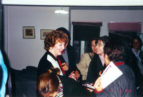 Cazzolli networking with nurses in Turkey