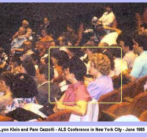 Cazzolli attends ALS conference in NYC - meets nurse Lynn Klein in June 1985