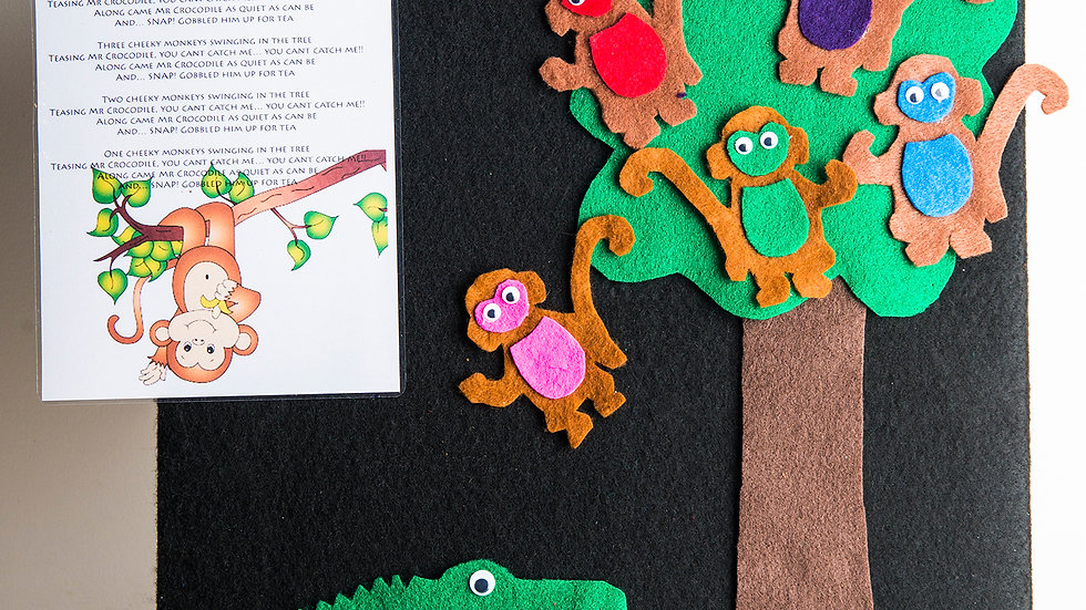 Handmade felt board stories