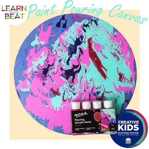 Paint Pouring Canvas Art Kit.
