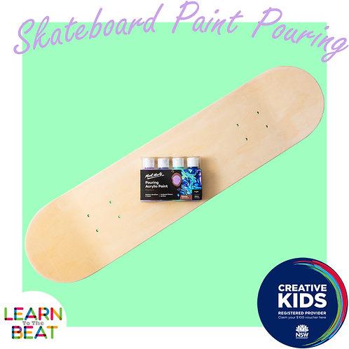 Skateboard Paint Pouring Kit