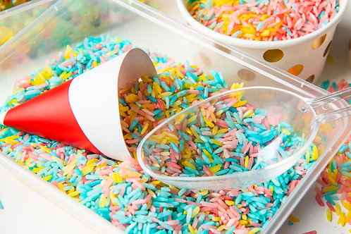 Colourful rainbow rice