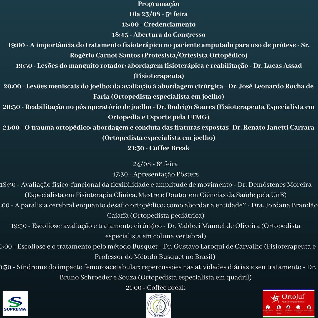 1º Congresso de Ortopedia e Fisioterapia