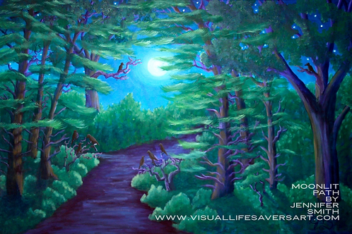 Moonlit Path - Print