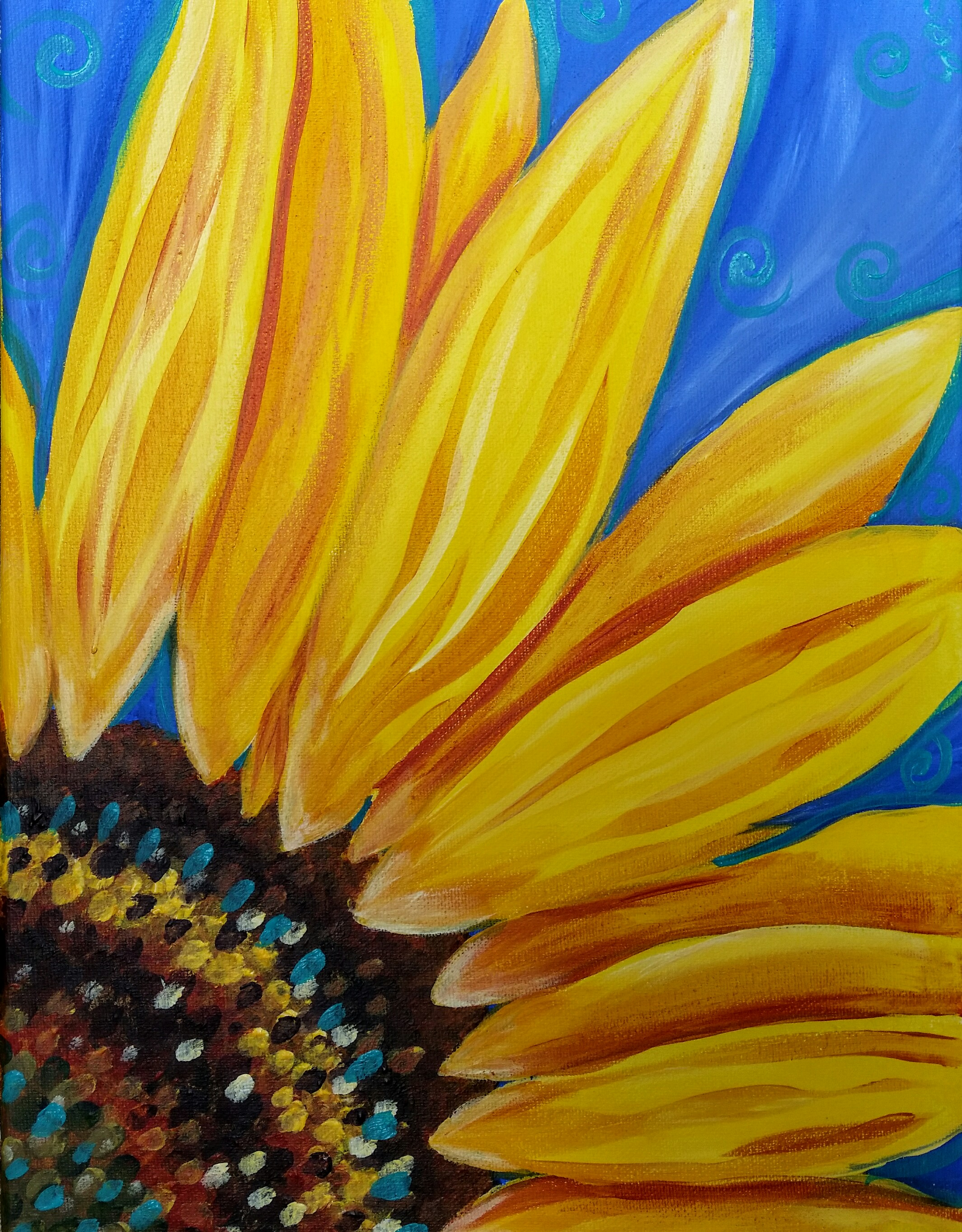 Quarter Sunflower