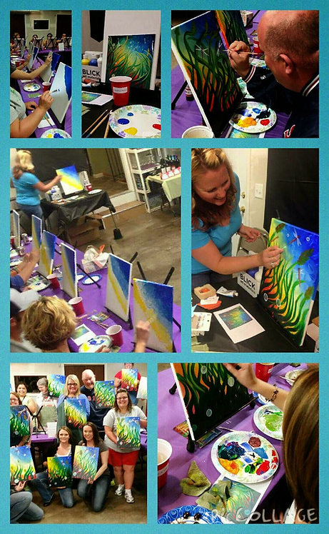 Vino and VanGogh Paint Night