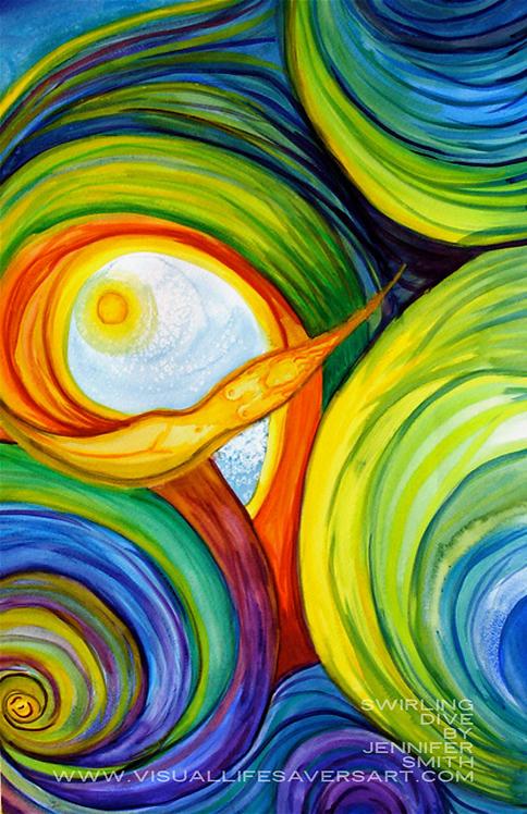 Swirling Dive - Print