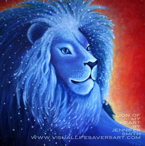 Lion of my Heart - print