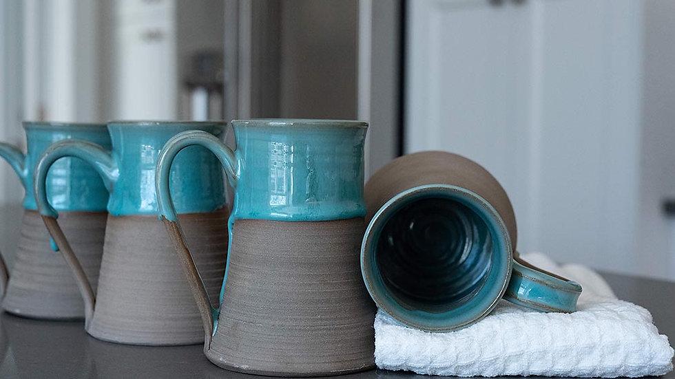 Turquoise and Grey Mug