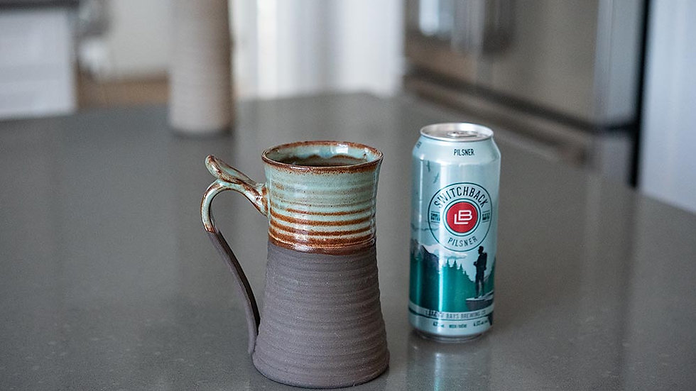 Pre-order Chocolate and Turquoise Beer Stein