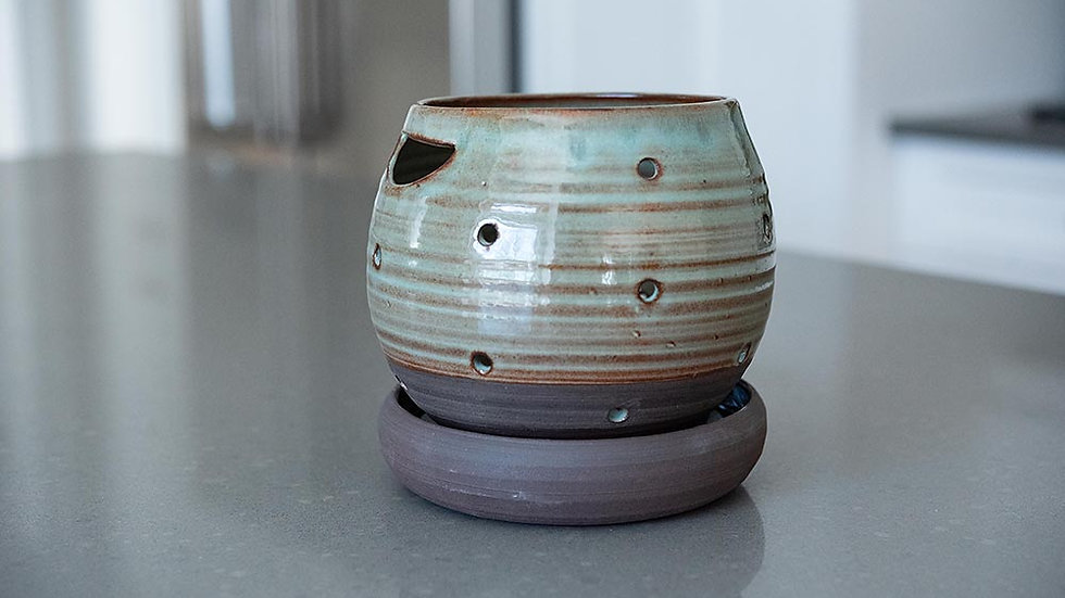 Turquoise and Dark Chocolate Berry Bowl