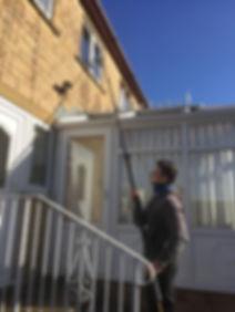 Water Fed Pole System. Window Cleaners In West Yorkshire; Elland, Halifax, Brighouse, Salterhebble, Greetland, Stainland, West Vale, Holywell Green, Krumlin, Huddersfield, Siddal.