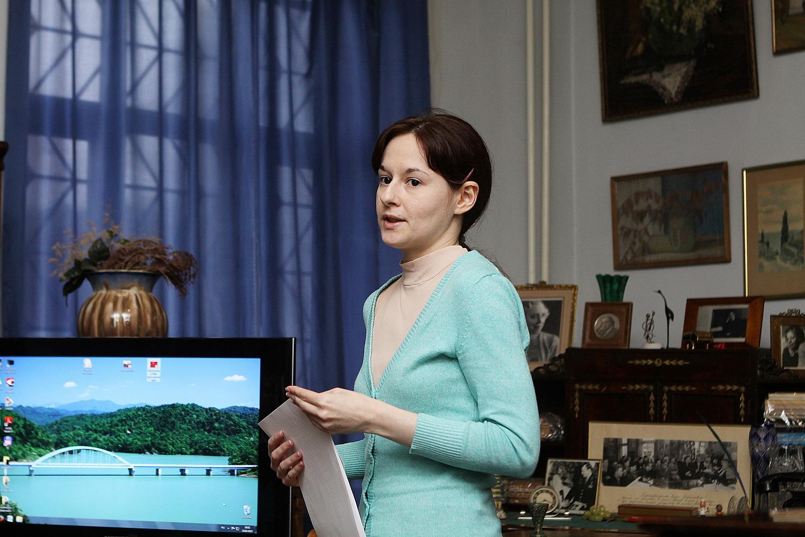 Сообщение М.А. Щербаковой об истории ЦССМШ