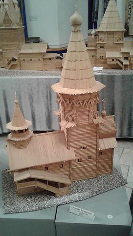 Макет храма г.Кондопога в Музее церковно