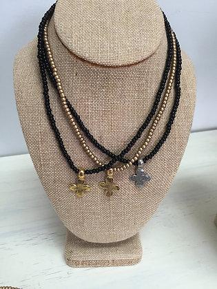 Stretch Cross Necklace