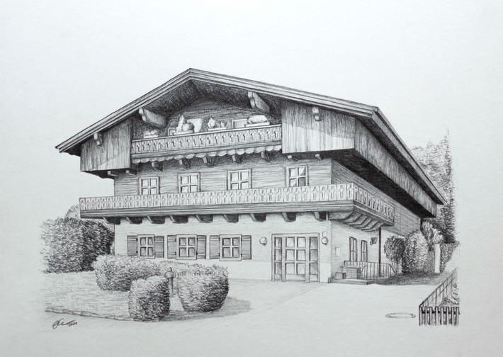 Bauernhaus Graphit