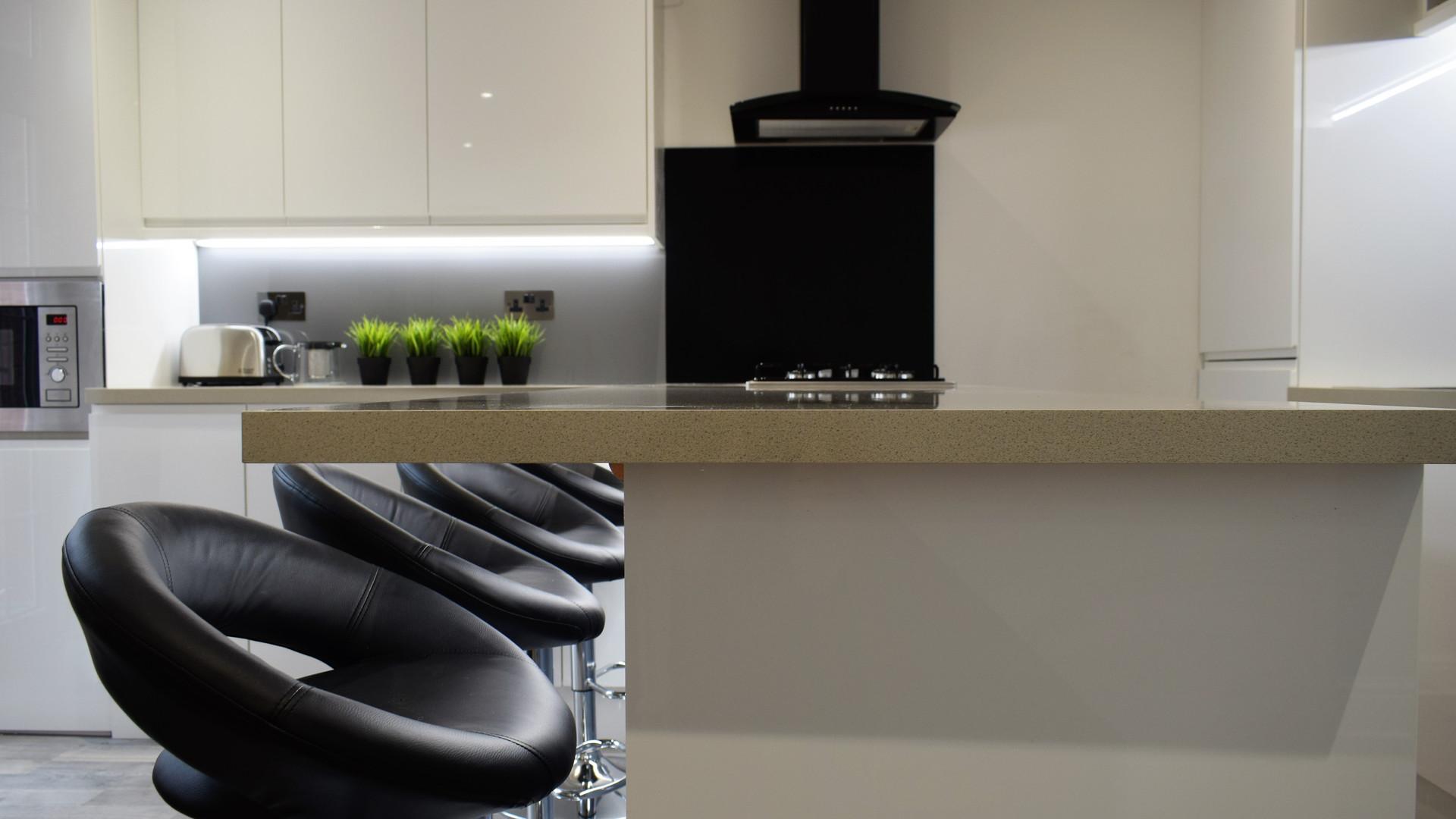 Island kitchen style, stunning shared home