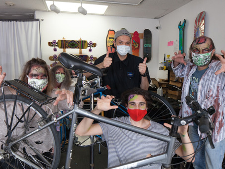 Davis Bikes & Skateboards Services the Undead this Halloween