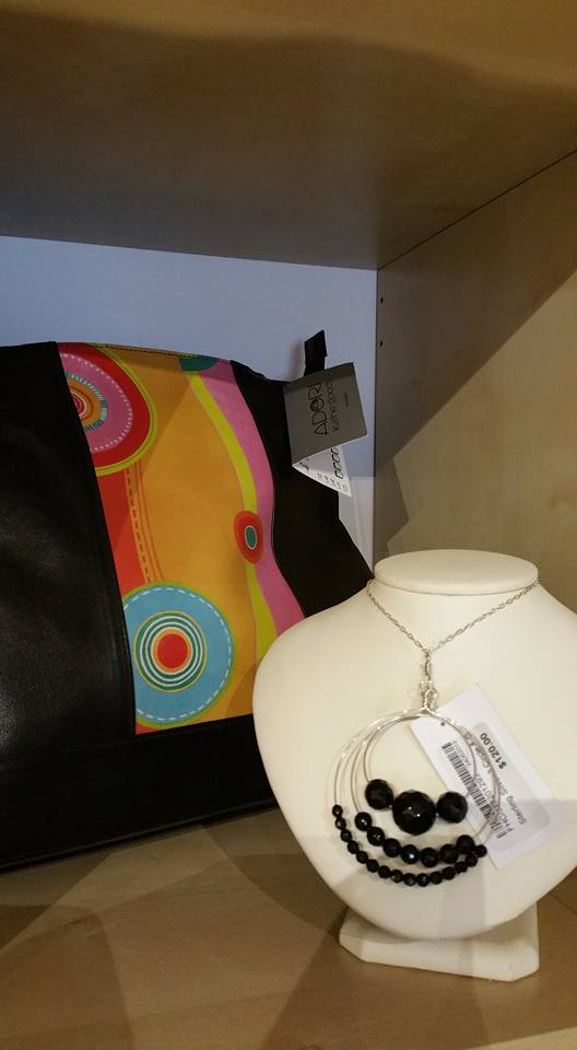 Lether Bag and necklace