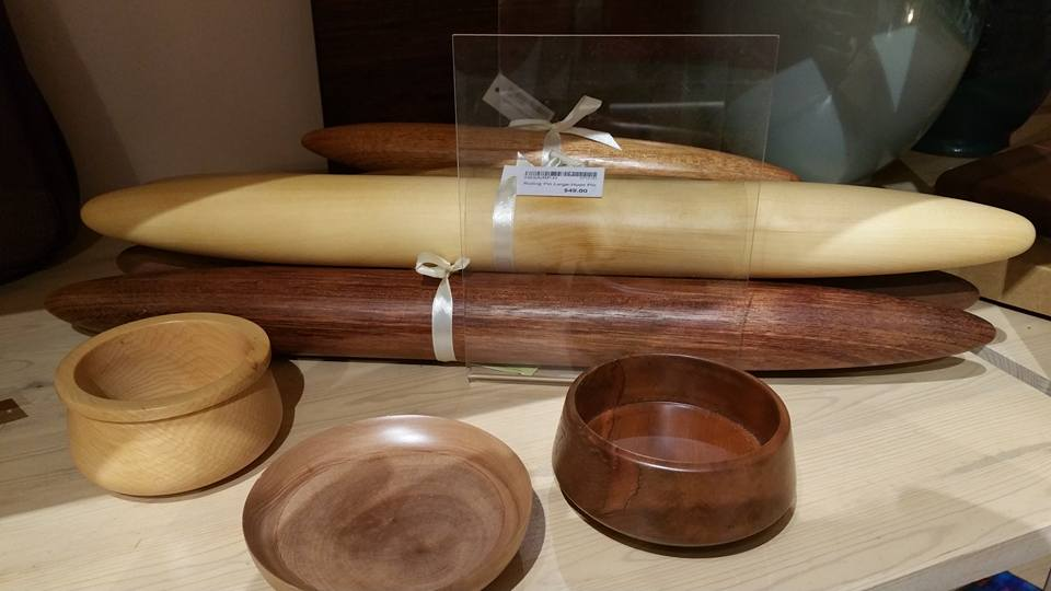 Assorted Timber Rolling Pins and Bowls