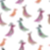 Bird line watercolor White pattern-01.pn