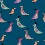 Bird line watercolor blue pattern-01.png