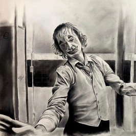 Joaquin Phoenix Joker - Charcoal
