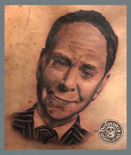Teller Portrait Tattoo
