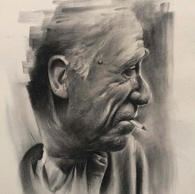 Charles Bukowski - Charcoal