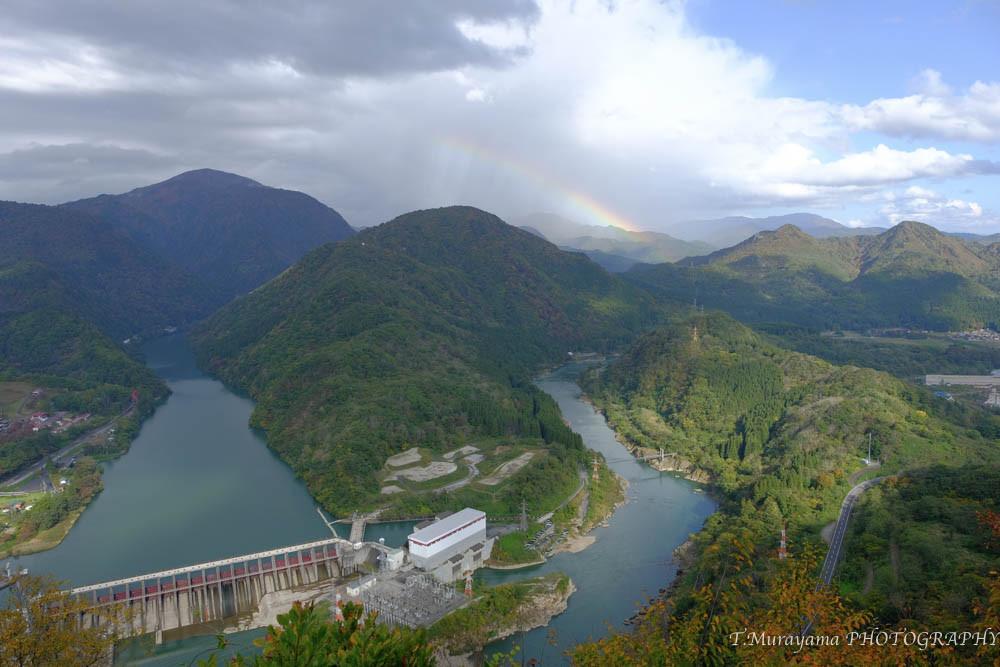 花筏展望台から眺める阿賀野川