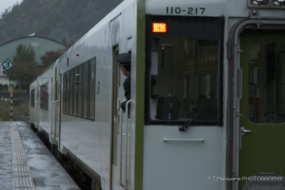 三川駅で見送り。また次も楽しみに。