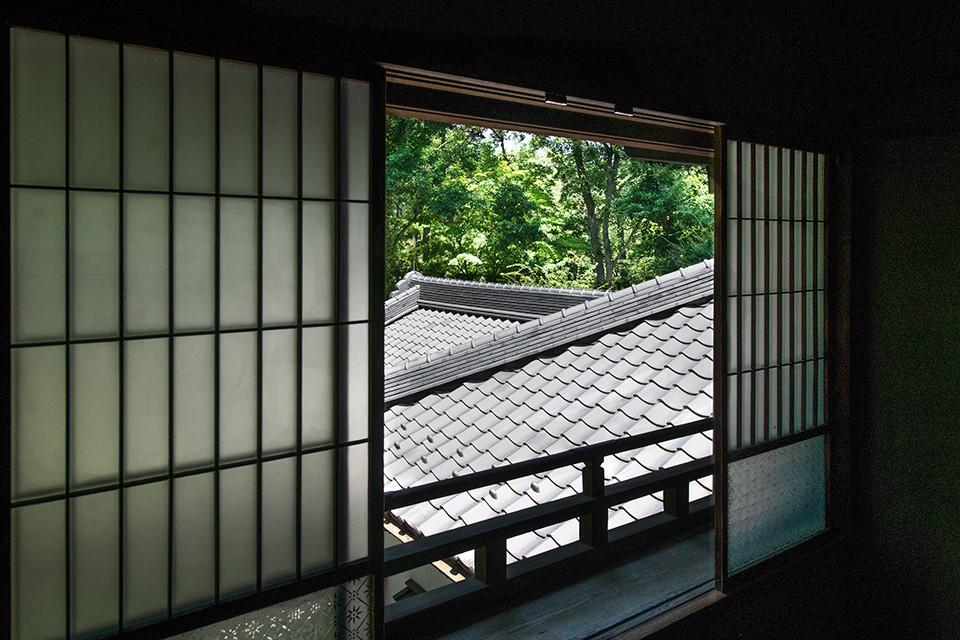 江戸東京たてもの園_ガラス窓