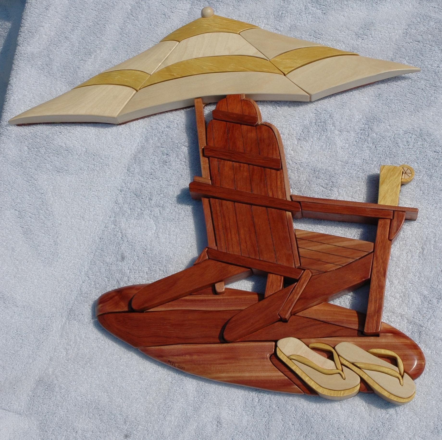 Beech Umbrella Intarsia