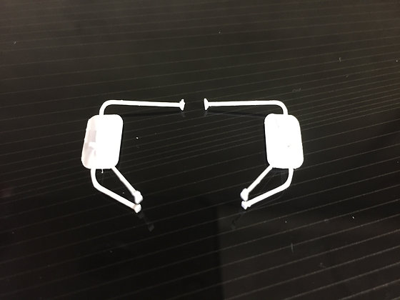 West Coast style mirrors for the Moebius 65-66 Ford F series pickup