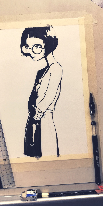 Noriko a protagonista do Tudo Zen Quadrinhos