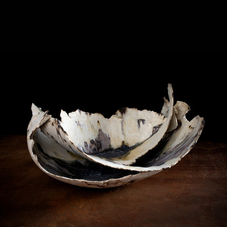 ceramic sculpture 'two tiered vessel'