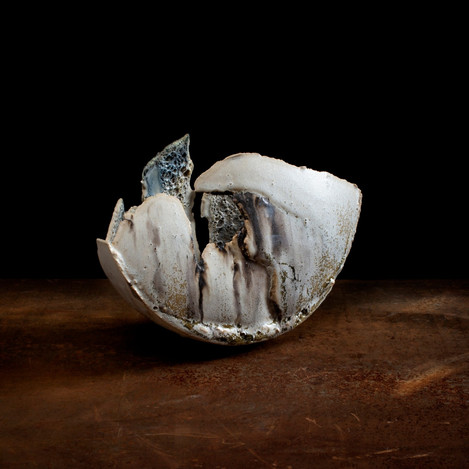 ceramic sculpture, 'small fragmented vessel'