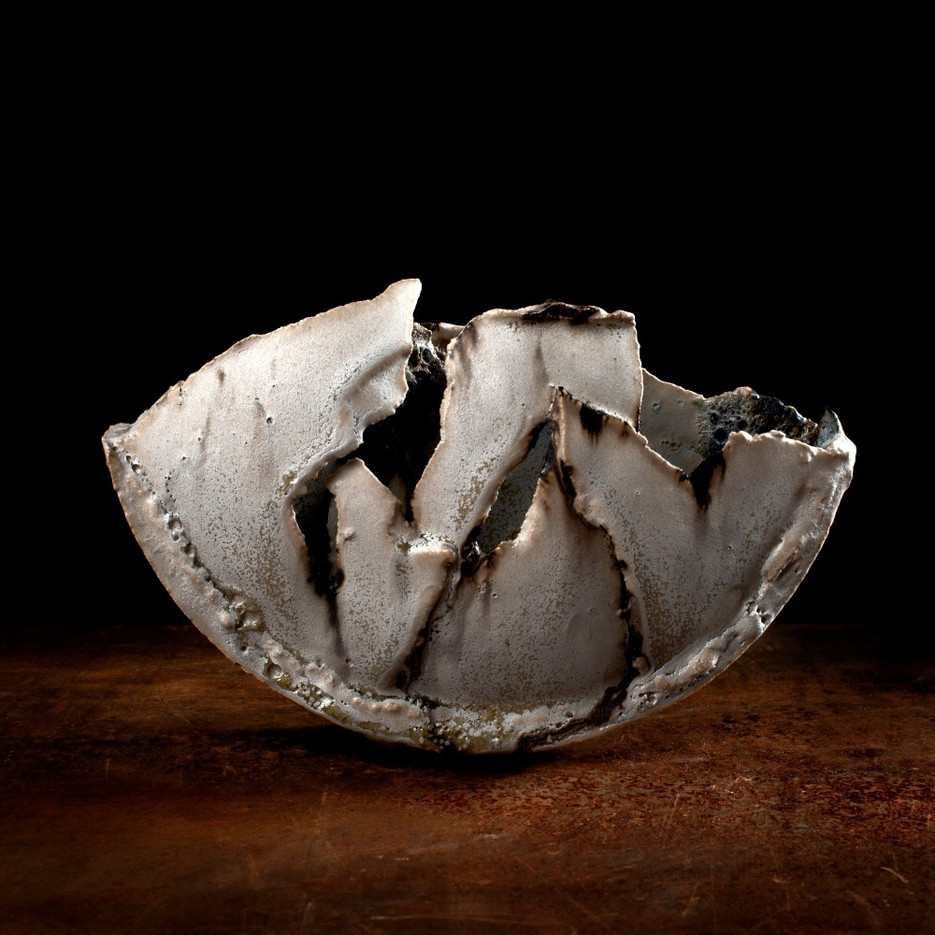ceramic sculpture, 'small fragmented vessel'