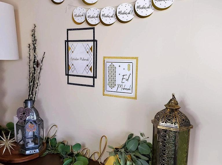 Mubarak Coaster Garland DIY-Sara @girlrefurbished