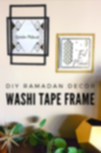 diy ramadan decor washi tape frame (1).p