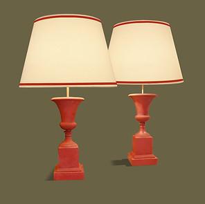 Pareja de lámparas de mesa en forma de copas clásicas. Charles & fils