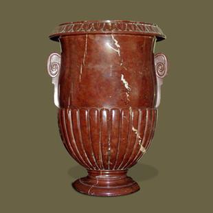 Gran copa neoclásica Mármol rojo.
